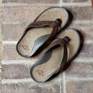 ABEO Solimar Post Brown Men's Sandals size 7